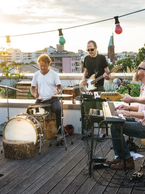 Roof top concert, Berlin, Summer 2020